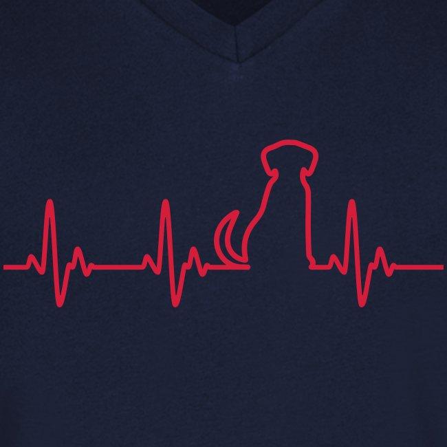 Vorschau: Hunde Herz - Männer Bio-T-Shirt mit V-Ausschnitt von Stanley & Stella