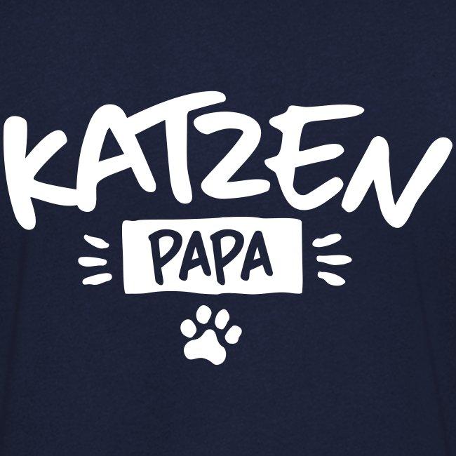 Vorschau: Katzen Papa - Männer Bio-T-Shirt mit V-Ausschnitt von Stanley & Stella