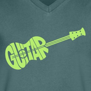 guitar - Men's V-Neck T-Shirt