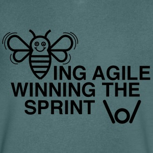 BEING AGILE WINNING THE SPRINT - Men's V-Neck T-Shirt