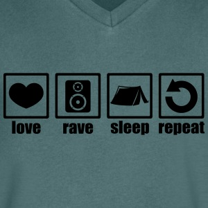 Love rave sleep repeat festival - Men's V-Neck T-Shirt