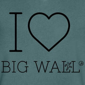 I love Big Wall - Men's V-Neck T-Shirt