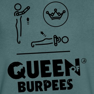 Queen of Burpees - Maglietta da uomo con scollo a V