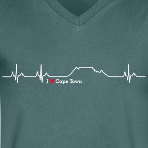 I love Cape Town (Table Mountain) - Männer T-Shirt mit V-Ausschnitt