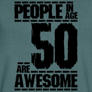 PEOPLE IN AGE 50 ARE AWESOME - Men's V-Neck T-Shirt