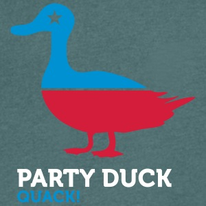 Political Party Animals: Duck - Men's V-Neck T-Shirt