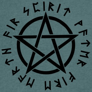Pentagram, pentacle, magic, symbol, runes - Men's V-Neck T-Shirt