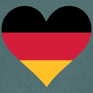 A Heart For Germany - Men's V-Neck T-Shirt