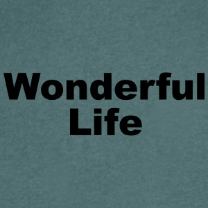 WonderfulLife - T-shirt med v-ringning herr