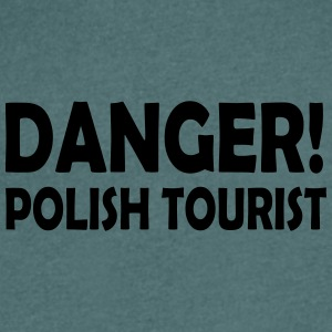 polish tourist - Men's V-Neck T-Shirt