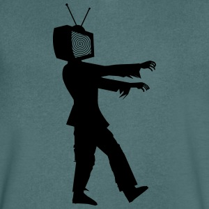 TELEVISION IS THE POOP 2HP - Men's V-Neck T-Shirt