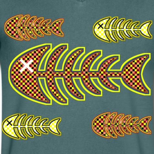 döda fiskar - ben i orange och gult - Men's Organic V-Neck T-Shirt by Stanley & Stella