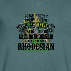 Rhodesian Awesome - T-skjorte med V-utsnitt for menn