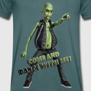 Paul - The Alien - Dance with me! - Männer T-Shirt mit V-Ausschnitt