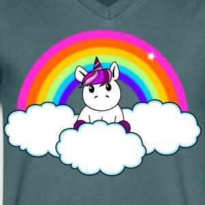 arc-en-Unicorn - T-shirt Homme col V
