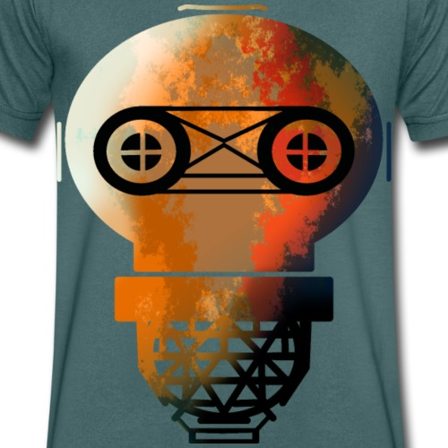 Old helmet with rust for diver or gas mask - Men's Organic V-Neck T-Shirt by Stanley & Stella