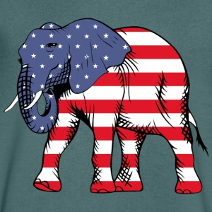 American Elephant - Men's V-Neck T-Shirt
