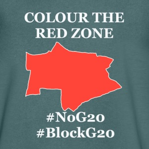 Color the red Zone - Men's V-Neck T-Shirt