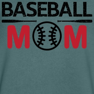baseball Mom - T-skjorte med V-utsnitt for menn