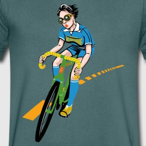 The Bicycle Girl - Men's V-Neck T-Shirt
