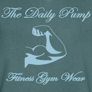 The Daily pompen biceps - Mannen T-shirt met V-hals