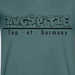 Zugspitze with snow - Top of Germany - Men's V-Neck T-Shirt