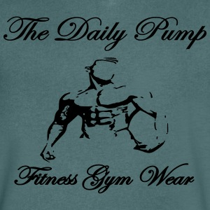 The Daily Pump male model - Men's V-Neck T-Shirt