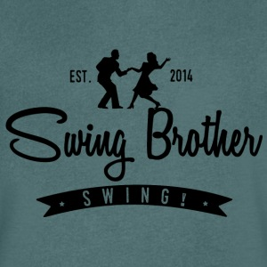 Swing brother Swing - T-skjorte med V-utsnitt for menn
