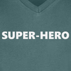 Superhero V2bkEN - Men's V-Neck T-Shirt