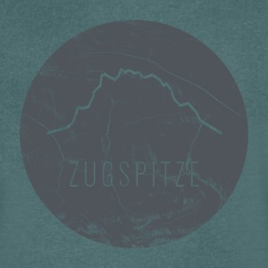 Zugspitze contour on wooden plate - Men's V-Neck T-Shirt