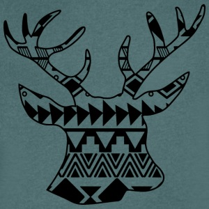 Native Deer svart - T-shirt med v-ringning herr