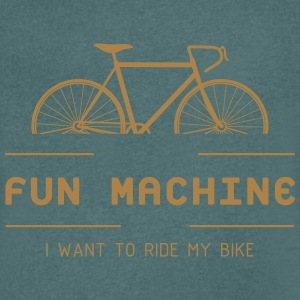 Cyclist from passion with the fun machine. - Men's V-Neck T-Shirt