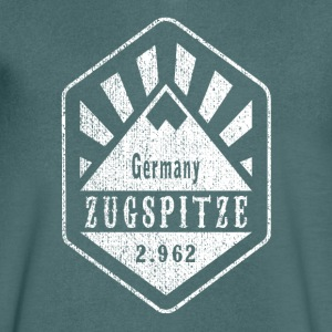 Zugspitze coat of arms - white - Men's V-Neck T-Shirt