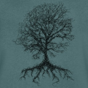 Scribble tree - Men's V-Neck T-Shirt