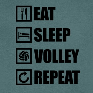 EAT SLEEP VOLLEY-BALL REPEAT - T-shirt Homme col V
