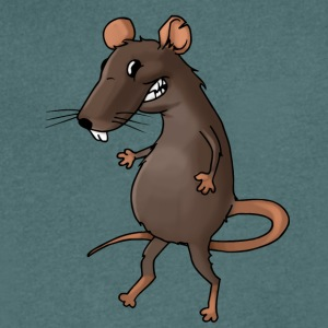 Fiese rat rodent vermin rodent mouse - Men's V-Neck T-Shirt