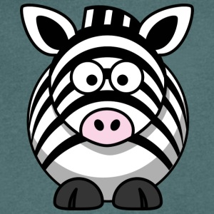 Thick zebra with big eyes comic style - Men's V-Neck T-Shirt