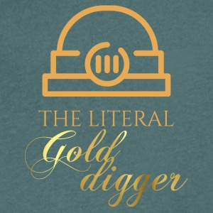 Mining: The literal Gold Digger - Men's V-Neck T-Shirt