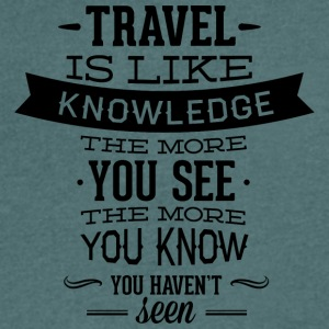 travel like knowledge - Men's V-Neck T-Shirt