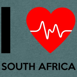 I Love South Africa - I love South Africa - Men's V-Neck T-Shirt