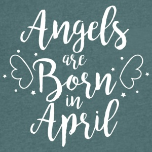 Angels are born in April - Men's V-Neck T-Shirt