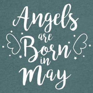 Angels are born in May - Men's V-Neck T-Shirt