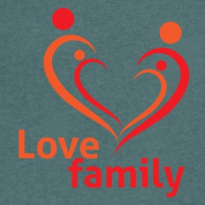Love Family - Mannen T-shirt met V-hals