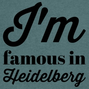 In the famous in heidelberg - Men's V-Neck T-Shirt