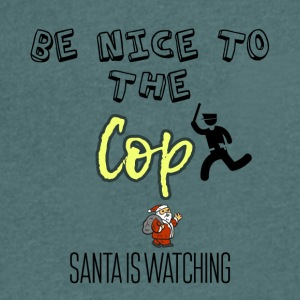 Be nice to the cop because Santa is watching - Men's V-Neck T-Shirt