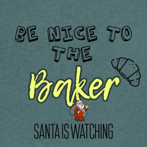 Be nice to the baker because Santa is watching - Men's V-Neck T-Shirt
