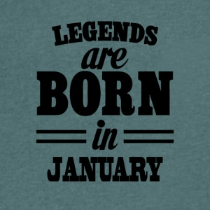 Legends are born in JANUARY - Men's V-Neck T-Shirt