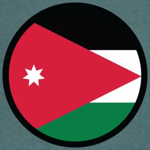 National Flag Of Jordan - T-skjorte med V-utsnitt for menn