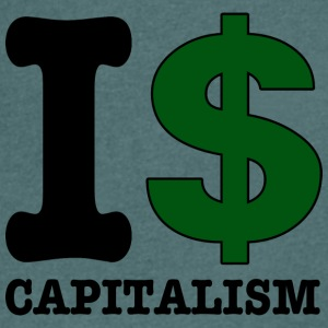 I $ capitalism - Men's V-Neck T-Shirt