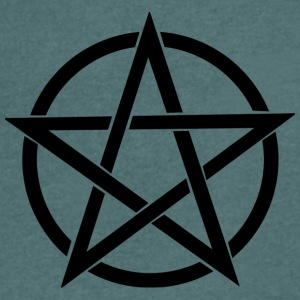 Pentagram gram~~POS=HEADCOMP - T-skjorte med V-utsnitt for menn